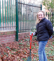 A solicitor at Pryers doing voluntary work for York Cares