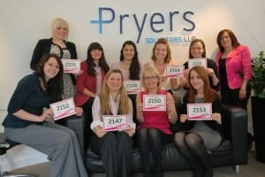 The Pryers Ladies who will be taking part in the Cancer Research Race for Life