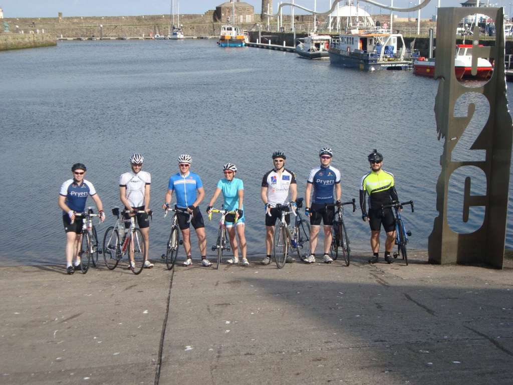 Team Pryers at the start line of the Coast to Coast