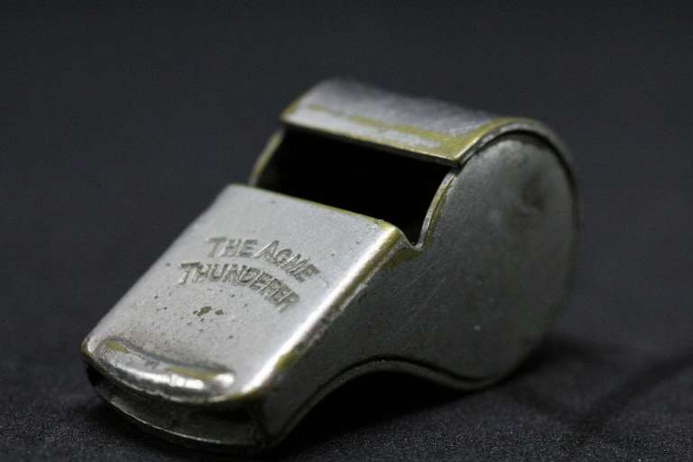 A photograph of a silver whitle, as warnings from NHS staff are ignored, according to a whistle-blowers alliance.