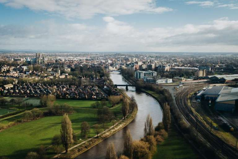 A photo of the city of York, taken from a drone. There are concerns that a mental health hospital in York is not going to have enough beds.