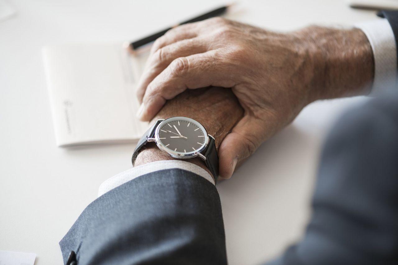 Man wearing a wristwatch