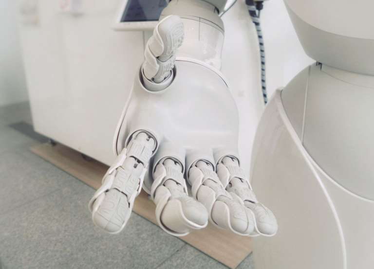 A robot hand to depict artificial intelligence