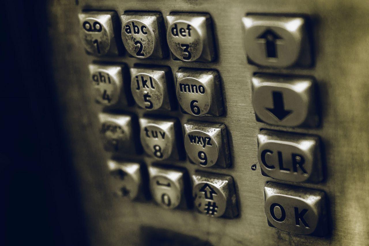 Payphone number pad