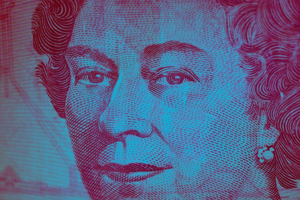 Queen Elizabeth in style of bank note