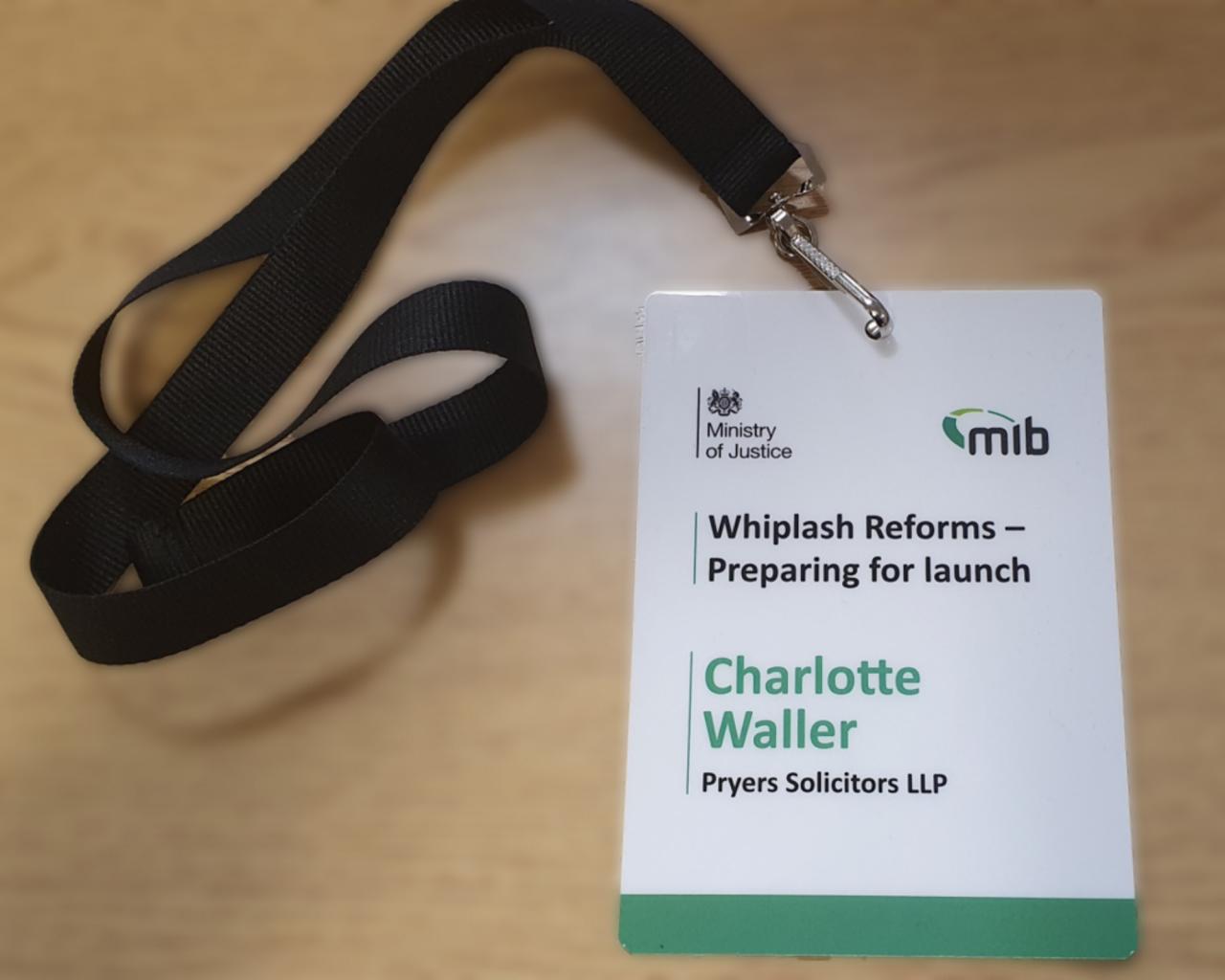 Whiplash Reforms Badge