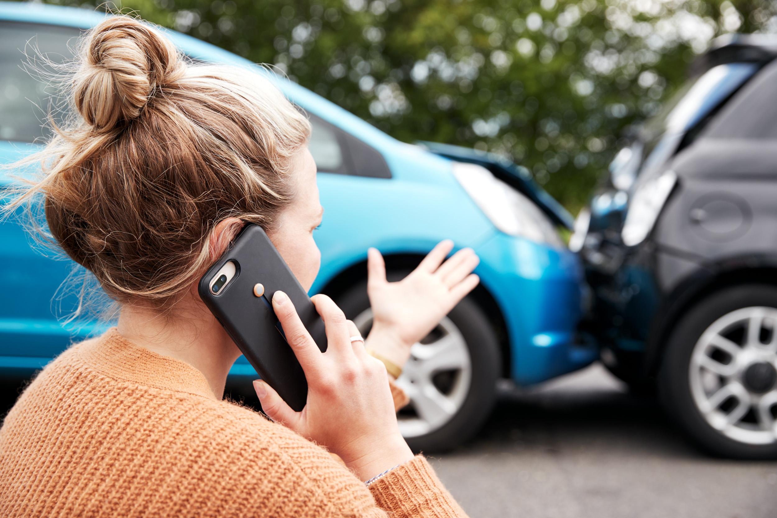 Female Motorist Involved In Car Accident