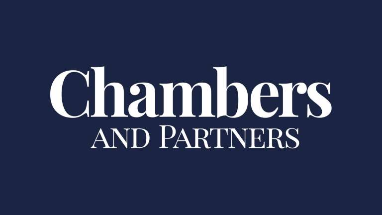 Chambres and Partners logo on a blue background